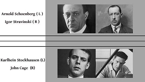 Schoenberg Stravinsky Cage Reich