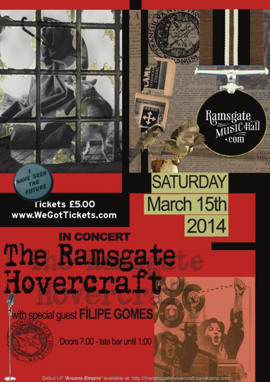 Poster for Ramsgate Music Hall gig